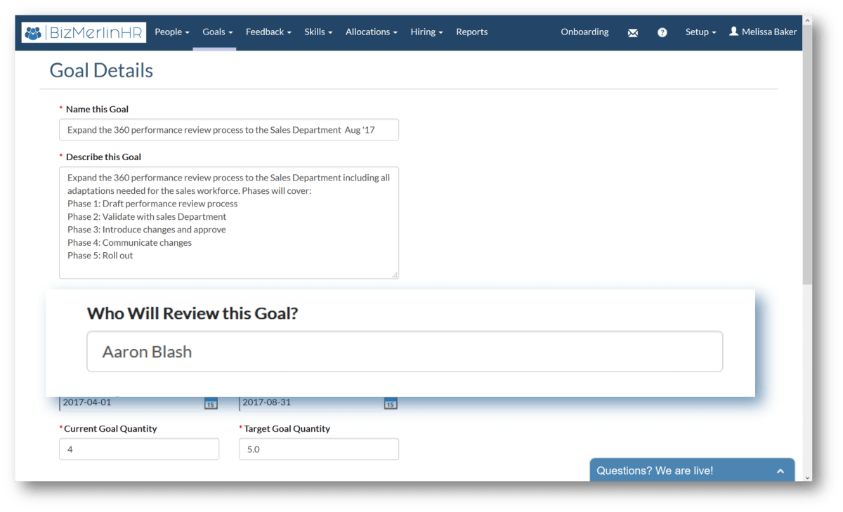 Smart Goals Management Software