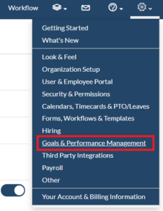 goals and performance management